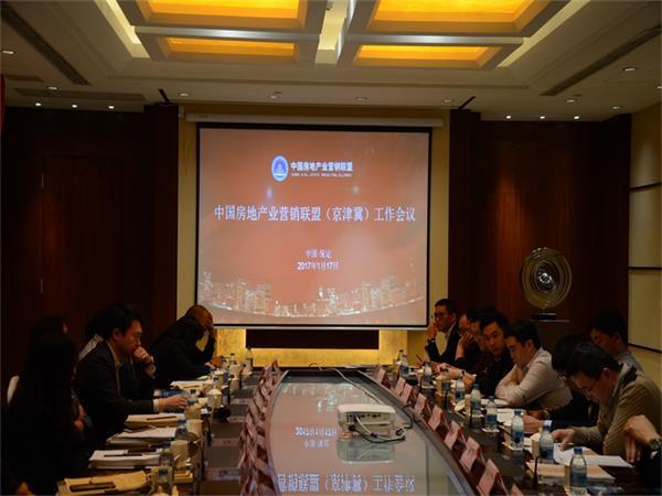 图为中国房地产业营销联盟(京津冀)工作会议开场
